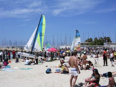 Gordon Beach- crowds gathered to enjy the celebrations